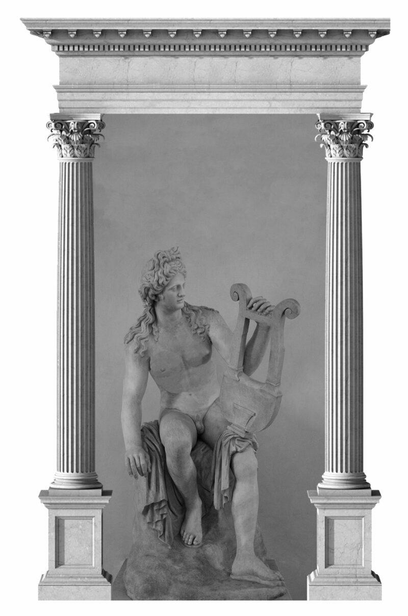 PRO ROMANIS ART Apollo God of Music - B&W