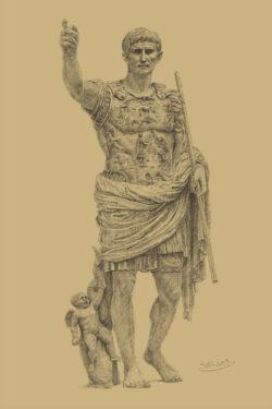 PRO ROMANIS ART Augustus Prima Porta - Sepia