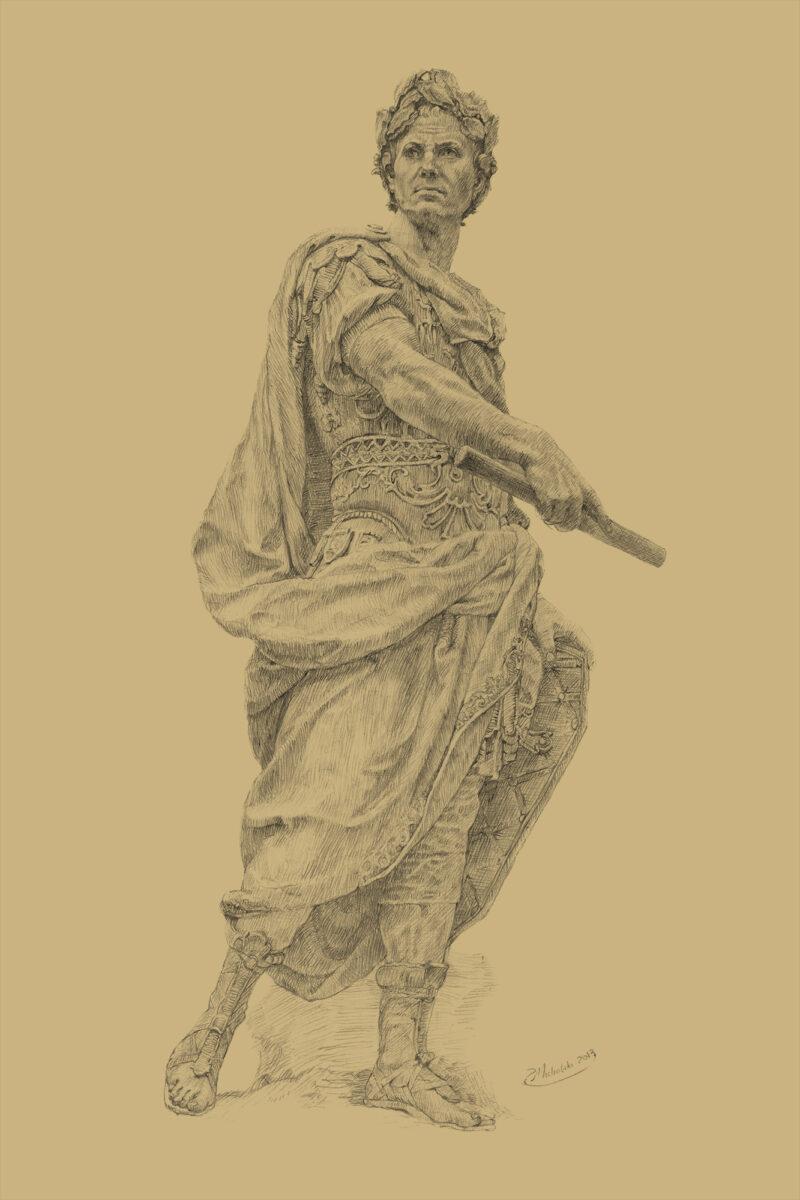 Gaius Julius Caesar - Sepia