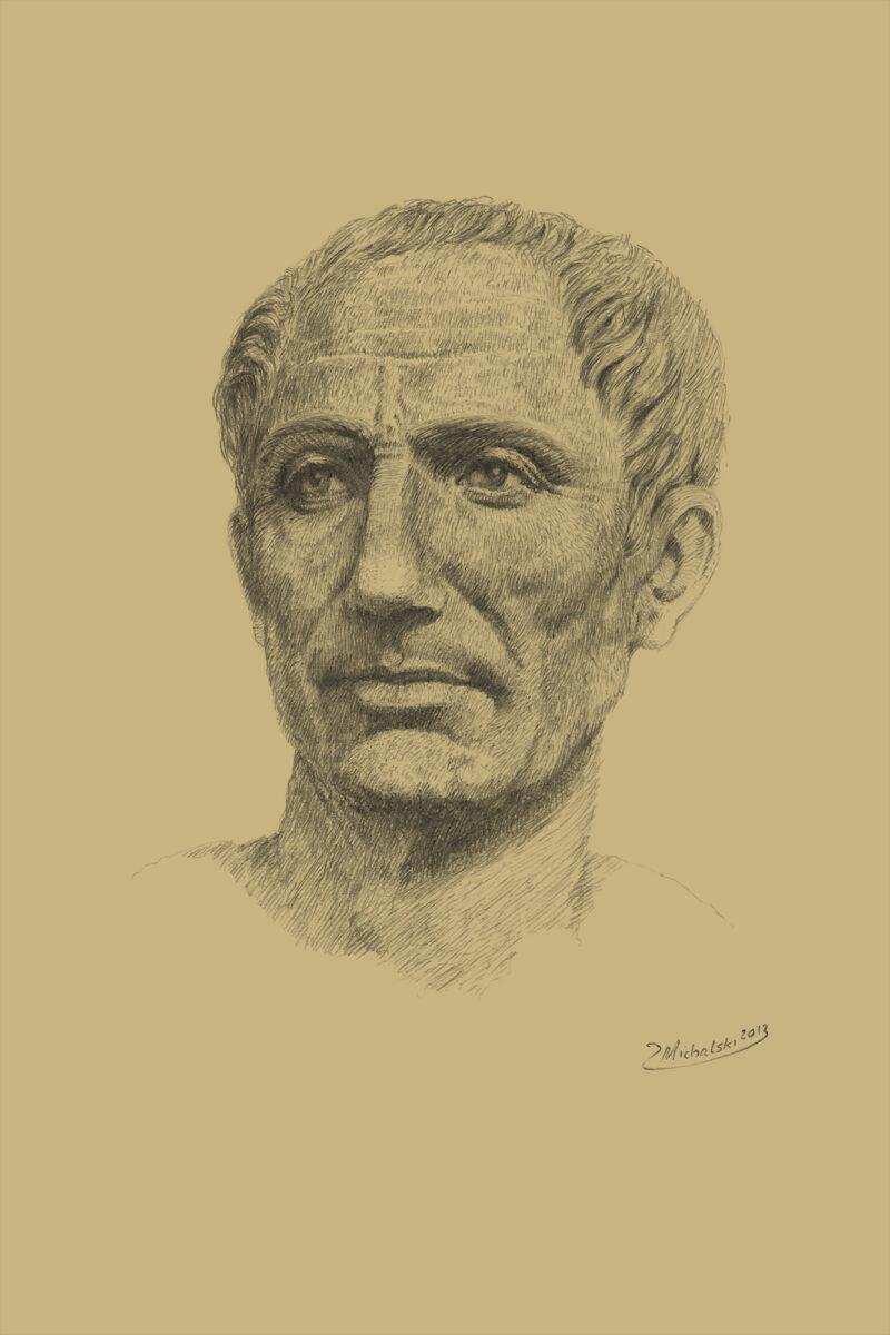 PRO ROMANIS ART Gaius Julius Caesar - Sepia