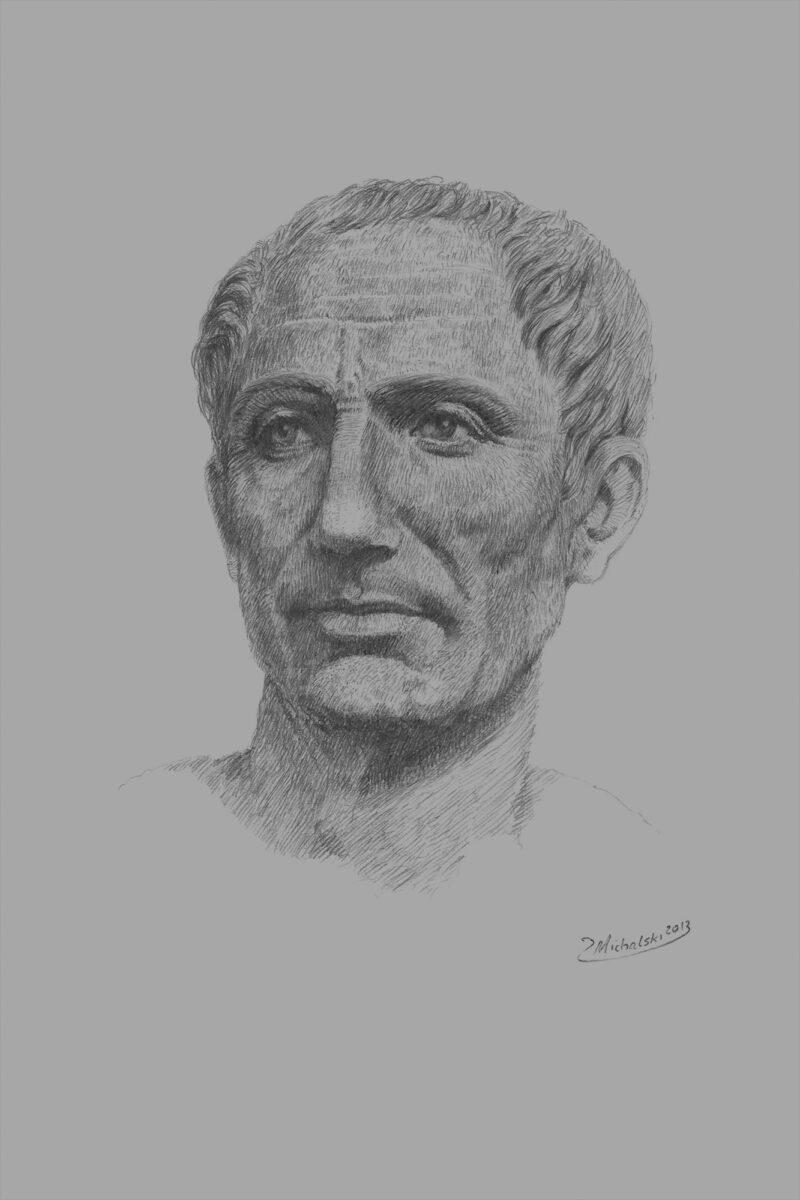 PRO ROMANIS ART Gaius Julius Caesar - B&W