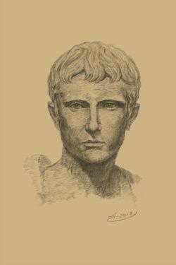 PRO ROMANIS ART Gaius Julius Caesar Octavianus - Sepia