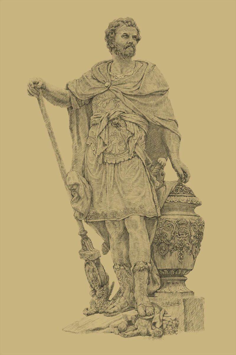 PRO ROMANIS ART Hannibal Barca After Cannae - Sepia