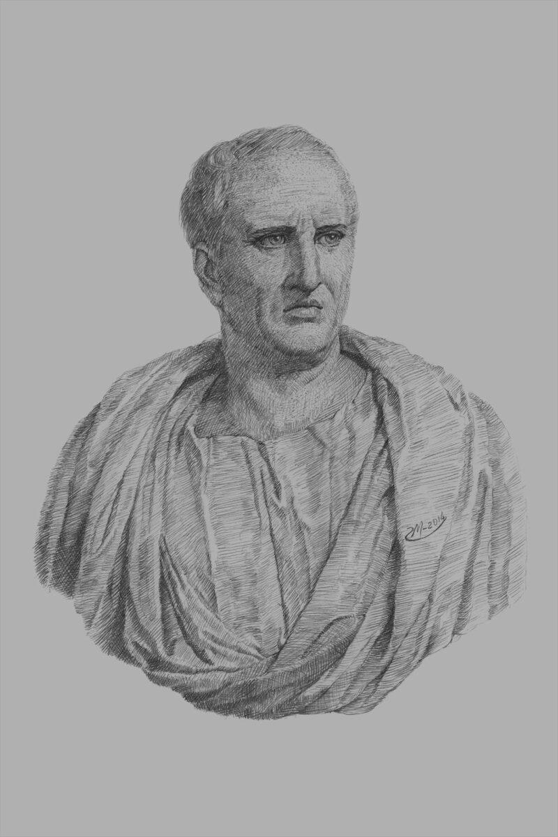 PRO ROMANIS ART Marcus Tullius Cicero - B&W