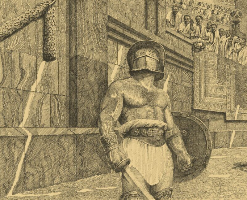 PRO ROMANIS ART Thrax Before the Fight - Sepia