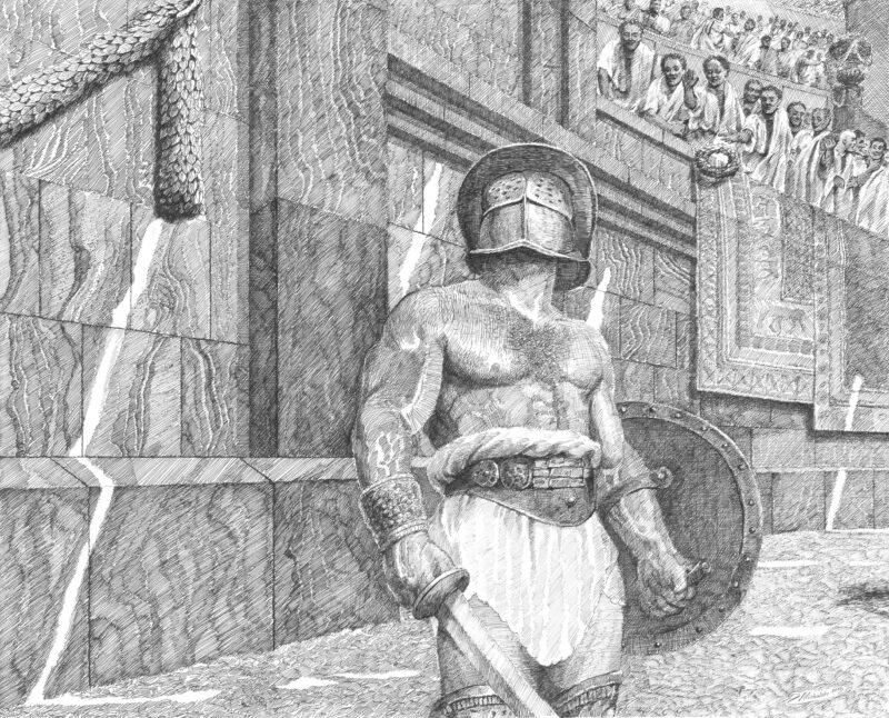 PRO ROMANIS ART Thrax Before the Fight - B&W