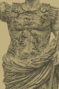 PRO ROMANIS ART Augustus Prima Porta Cuirass - Sepia