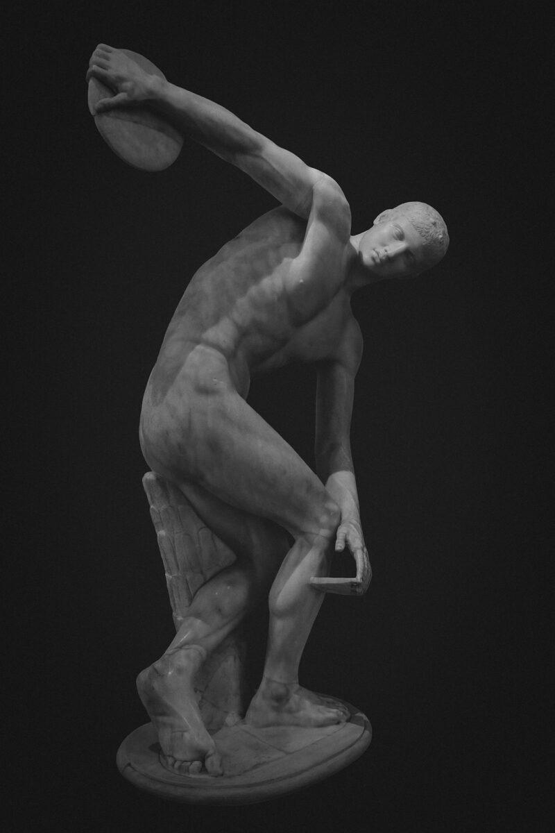 PRO ROMANIS ART Discobolus Lancelloti - B&W