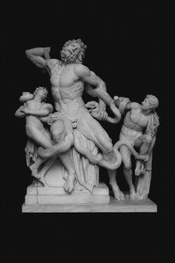 PRO ROMANIS ART Laocoön and His Sons - B&W